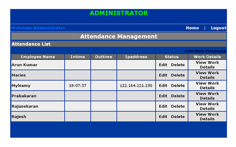 online attendance system Student attendance management  attendance management system is a software developed for daily student attendance in schools, collages and institutes.