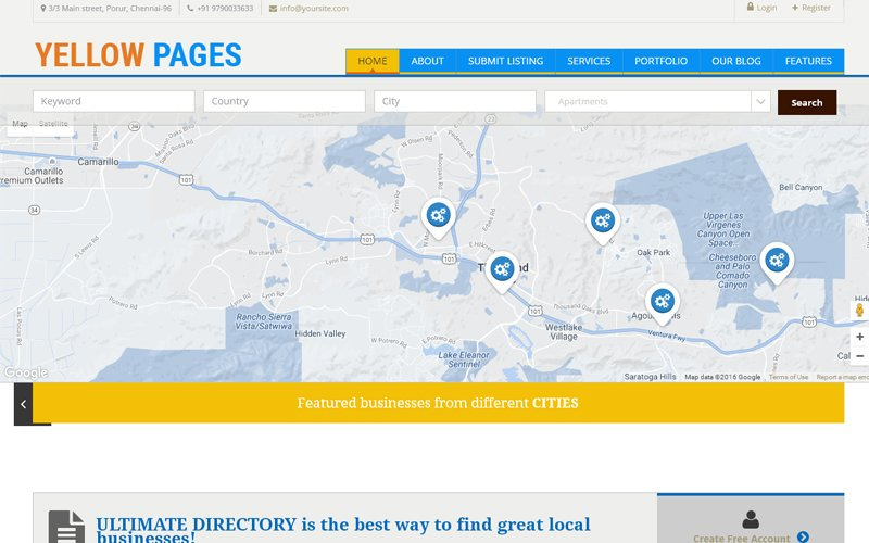 Yellow Pages Clone Script
