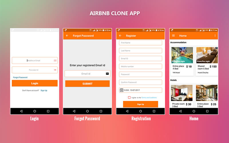 Airbnb Clone Andriod App Airbnb Android Application