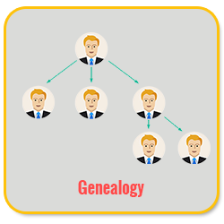 Bitcoin MLM Software genealogy