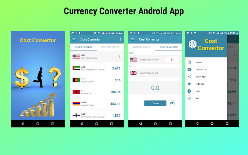 Currency Converter Android Source Code Lication
