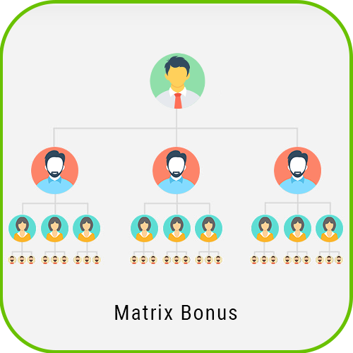 MLM Forced Matrix matrix bonus